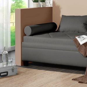 Relaxliege mit Bettkasten 90x200 cm grau - Kamina