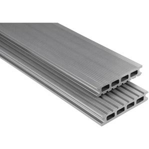 Kovalex WPC Terrassendiele glatt Grau Maßanfer. 2,6x14,5x500cm