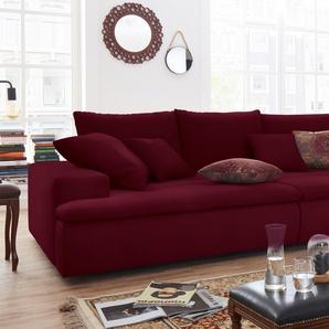 Nova Via Big-Sofa, rot, Inkl. Zierkissen, hoher Sitzkomfort