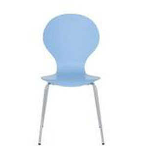 Leguan - Stuhl hellblau stapelbar