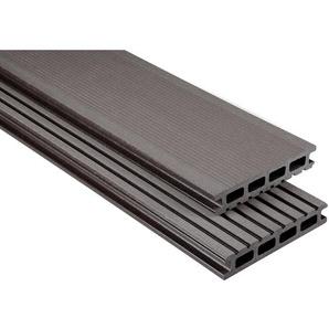 Kovalex WPC Terrassendiele gebürstet Graubraun Maßanfer. 2,6x14,5x350cm