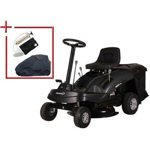 HANSEATIC Set: Rasentraktor »Rider 6100E«, 61 cm Schnittbreite, mit Schutzhülle und Ölabsaugset