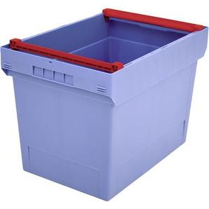 BITO-Lagertechnik Mehrwegbehälter MB Deckel/Bügel/Kufe / MBB64421 600x400x423 taubenblau Bügel