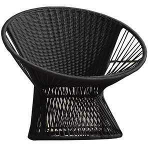 Jan Kurtz - Lounge Sessel RAY , Cadre: Alu pulverbesch.Sitz: Seil beige 6 mm aus 100 % Polyester - outdoor