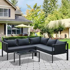 4-Sitzer Lounge-Set Zelaya mit Polster