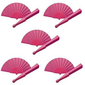 sin4sey 10er Set Hochzeitsfächer Fächer Handfächer Partyfächer Klappfächer Taschenfächer (pink)