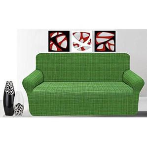 Elastische Sofahusse, Sofaschutzbezug Granada 3 Posti grün