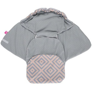 Einschlagdecke für Babyschale und Kinderwagen aus Softshell