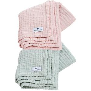 Tagesdecke »4in1 Decke 2er Set Mint-Rosa«, Nordic Coast Company, Premium: 4-fach gewebt