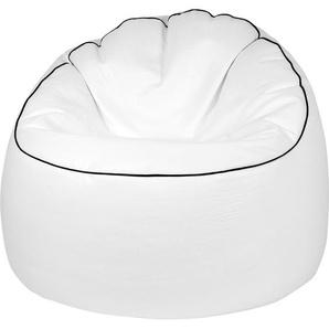 Sitting Point Sitzsack Tube Cosy Lederimitat Weiß