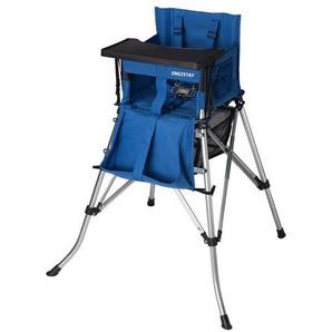 Hochstuhl mit Tisch faltbar mit Tragetasche,5-Punkt Gurt blau - FEMSTAR
