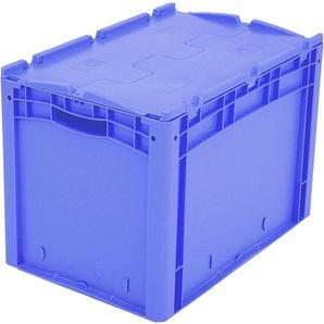 BITO-Lagertechnik Eurostapelbehälter XL Deckel/Kufe / XLD64421D 600x400x420 blau Deckel Doppelbode