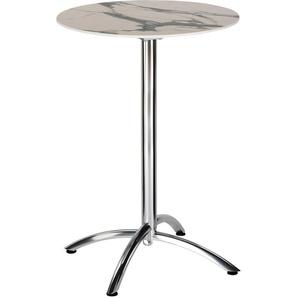 : Tisch, Creme, Grau, Silber, H 110