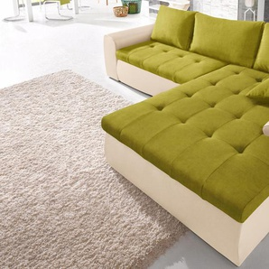Raum.id Eckcouch, beige, hoher Sitzkomfort