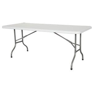 Premium Tisch 180cm weiß mit zusammenklappbaren Füßen - für profi-veranstaltungen - INTEROUGE
