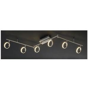 casaNOVA LED Deckenlampe 6 flg RIGA Nickelfarbig/Chromfarbig