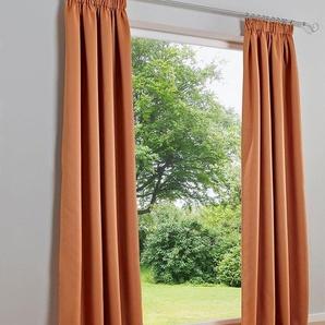 Dekoschal unifarben, orange, Gr. 245/280 cm,  home, Material: Polyester