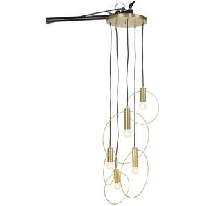Pendelleuchte in modischem Design, goldfarben, Gr. 138 cm,  home