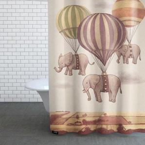 Flight of the Elephants-Duschvorhang