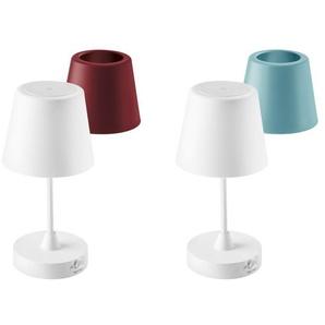 LIVARNO LUX® Tischleuchte, kabellos, mit 2 Schirmen, 3-Stufen-Touchdimmer