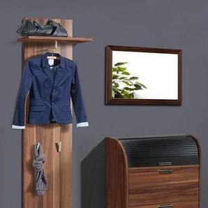 expendio 44849062 Garderoben Set 3-teilig, MDF/Spannplatte, nussbaum, 39 x 130 x 130 cm