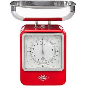 Wesco: Uhr, Edelstahl, Rot, B/H/T 15 27 13