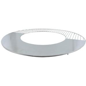 Esschert Design Grillrost Edelstahl mit Grillplatte Esschert, Ø 62 x 1,9 cm