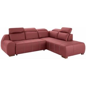 Premium Collection By Home Affaire Ecksofa »Spirit« mit Bettfunktion, rot, komfortabler Federkern, hoher Sitzkomfort