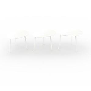 Couchtisch Weiß - Eleganter Sofatisch: Beste Qualität, einzigartiges Design - 67/67/67 x 44/47/50 x 50/50/50 cm, Konfigurator