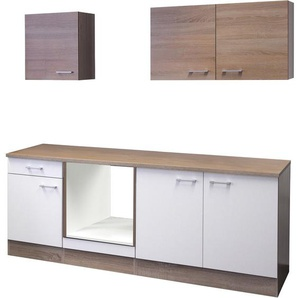 k chenzeilen in braun preisvergleich moebel 24. Black Bedroom Furniture Sets. Home Design Ideas