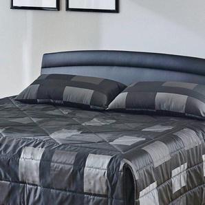 Tagesdecke, Westfalia Schlafkomfort, schwarz, 197 cm x 250 cm