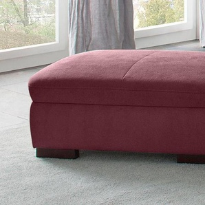 Home Affaire Hocker »Alberto«, rot, B/H/T: 101x41x68cm, hoher Sitzkomfort