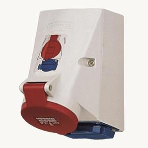 MENNEKES TwinCONTACT CEE-Kombi, Kunststoff, grau, IP44, 1x16A5p400V, 1xSteckdose, ohne Absicherung, ohne FI-Schutzschalter