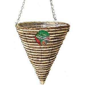 Kingfisher 30cm Seil Konus Garten Torrontes gefüttert Korb 40cm Kette zum Aufhängen
