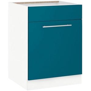 wiho Küchen Spülenschrank »Flexi2« Breite 60 cm, blau
