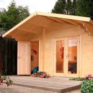 WOLFF FINNHAUS Gartenhaus »Caro 34 Modern«, BxT: 486x460 cm, inkl. Fußboden, mit 2 Räumen