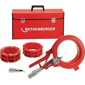ROTHENBERGER Kunststoffrohr-Schere Rocut 110 Set für 50/75/110 mm Kunststoff Abstech- und Anfasgerät Rohrschneider