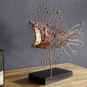 Skulptur Fisch 56x18x50 kupfer DEKO #004