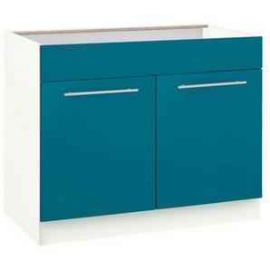 wiho Küchen Spülenschrank »Flexi2« Breite 100 cm, blau