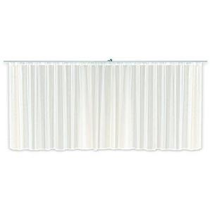 Haus und Deko Voile Dekoschal Gardine Emotion weiß Organza Vorhang Kräuselband klassisch transparent kurz mittel oder lang Store #1309 (900x175)