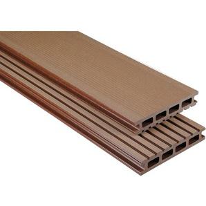Kovalex WPC Terrassendiele gebürstet Braun Zuschnitt 2,6x14,5x580cm