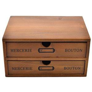 Likeluk Drawers Schubladenbox Schminkbox mit 2 Schubladen zum Sortieren von Make-Up, Schmuck, Büro- und Bastelbedarf