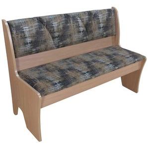 Truhen Sitzbank aus Stoff gemustert Buche