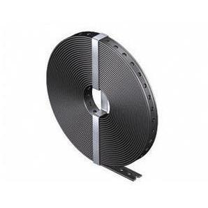 Don Quichotte MZ024 Metallmontageband, ummantelt, 10m x 14 mm, Stahl, verzinkt, Kunststoff schwarz