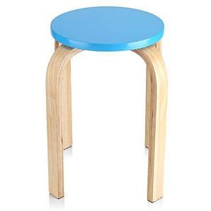GOTOTOP 4 Farbe Hocker Sitzhocker Holzhocker Stapelhocker Küchenhocker Wohnzimmer Möbel Dekoration für Ihrer Küche, Ihrem Speise- oder Home-Pub-Bereich benötigen,45,5 * 30cm (blau)