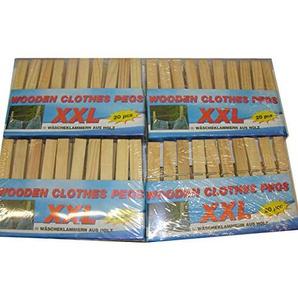 Wäscheklammern XXL aus Holz große Holzwäscheklammern 80 Stück