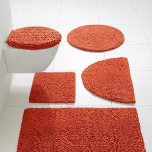 Badteppich mit hohem Schlaufenflor, orange, Gr. ca. 70/110 cm,  home, 100% Baumwolle