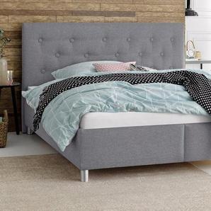 Maintal Polsterbett, auch mit Bettkasten erhältlich, grau