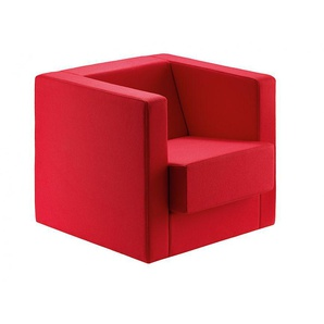 Sessel D1 Tecta Rot, Designer Peter Keler, 67x80x72 cm