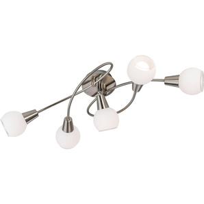 LED Deckenlampe»DASHA«, silberfarben, Gr. onesize, NINO LEUCHTEN, Material: Metall, Glas